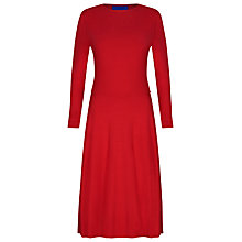 Buy Winser London Flared Jersey Dress, Hollywood Red Online at johnlewis.com