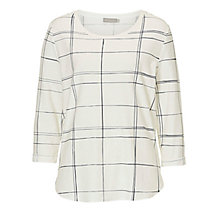 Buy Betty & Co. Graphic Print Top, White/Dark Blue Online at johnlewis.com