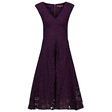 Buy Jolie Moi Sweetheart Neck 50s Lace Dress, Dark Purple Online at johnlewis.com