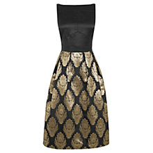 Buy Oasis Warner Jacquard Midi Dress, Black Online at johnlewis.com