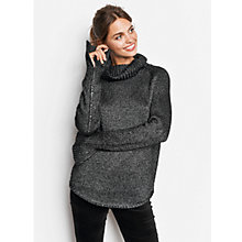 Buy hush Plait Jumper, Dark Charcoal Marl Online at johnlewis.com