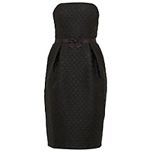 Buy Ted Baker Reba Textured Strapless Bow Dress, Black Online at johnlewis.com