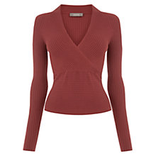 Buy Oasis Rib Wrap Front Top Online at johnlewis.com
