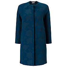 Buy Jacques Vert Jacquard Longer Length Jacket, Dark Green Online at johnlewis.com