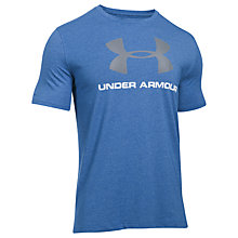 Buy Under Armour Sportstyle Charged Cotton T-Shirt, Navy Online at johnlewis.com
