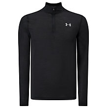 Buy Under Armour Threadborne Fitted Full 1/4 Zip Training Top, Black Online at johnlewis.com