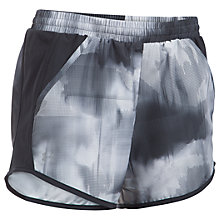 Buy Under Armour Printed Fly-By Running Shorts, Black Online at johnlewis.com