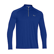 Buy Under Armour Tech 1/4 Zip Long Sleeve Top, Royal Blue Online at johnlewis.com