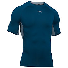 Buy Under Armour HeatGear Compression Short Sleeve Shirt, Navy Online at johnlewis.com