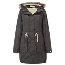 Buy White Stuff Field Parka, Dark Charcoal Online at johnlewis.com