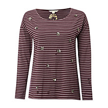 Buy White Stuff Melanie Stripe T-Shirt, Harlem Plum Online at johnlewis.com