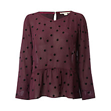 Buy White Stuff Flock Spot Top Online at johnlewis.com