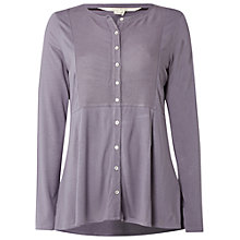 Buy White Stuff Elinor Jersey Shirt, Grey Online at johnlewis.com