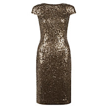 Buy Hobbs Portia Dress, Dull Gold Online at johnlewis.com