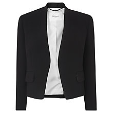 Buy L.K. Bennett Pru Satin Back Jacket, Black Online at johnlewis.com