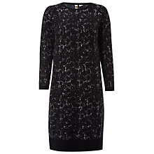 Buy White Stuff Iris Jacquard Dress, Eccent Black Online at johnlewis.com