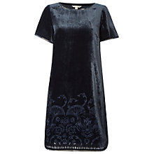 Buy White Stuff Harper Velvet Dress, Eccentric Blue Online at johnlewis.com