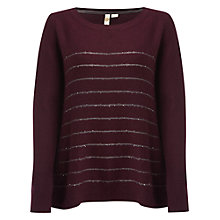Buy White Stuff Iris Sequin Jumper, Astoria Purple Online at johnlewis.com