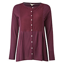 Buy White Stuff Elinor Jersey Shirt, Harlem Plum Online at johnlewis.com