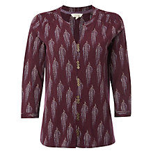 Buy White Stuff Golden Leaves Jersey Shirt, Harlem Plum Online at johnlewis.com