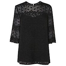 Buy L.K. Bennett  Dita Blouse, Black Online at johnlewis.com
