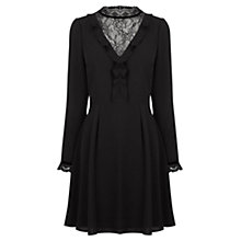 Buy Oasis Lace Insert Dress, Black Online at johnlewis.com