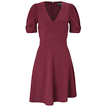 Buy Miss Selfridge Bow Sleeve Dress, Burgundy Online at johnlewis.com
