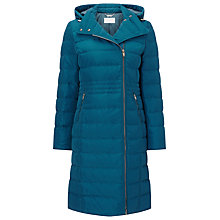 Buy Windsmoor Asymmetric Front Hooded Down Coat, Dark Green Online at johnlewis.com