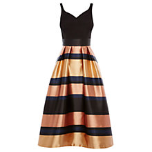 Buy Coast Rita Metallic Stripe Dress, Gold Online at johnlewis.com