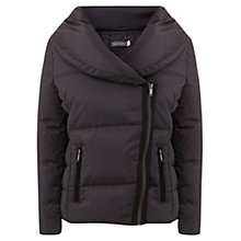 Buy Mint Velvet Lightweight Ruched Collar Puffer Jacket, Grey Online at johnlewis.com