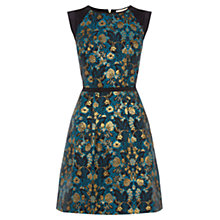 Buy Oasis Warner Jacquard Skater Dress, Multi/Blue Online at johnlewis.com