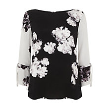 Buy Mint Velvet Rosamund Print Contrast Sleeve Blouse, Multi Online at johnlewis.com