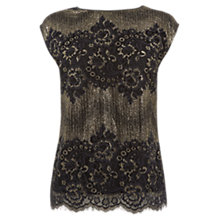 Buy Oasis Metallic Lace Top, Multi Online at johnlewis.com