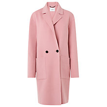 Buy L.K. Bennett Eden Double Faced Wool Coat, Bardot Pink Online at johnlewis.com