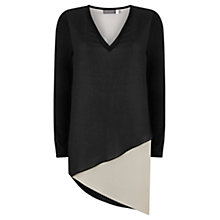 Buy Mint Velvet Chalk Blocked Jersey Sleeve Tunic, Neutral Online at johnlewis.com