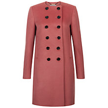 Buy Hobbs Roseanne Wool Coat, Rose Pink Online at johnlewis.com