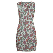 Buy Hobbs Lucia Print Dress, Grey Orange Online at johnlewis.com
