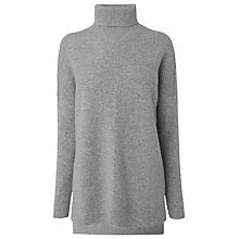 Buy L.K. Bennett Maya Roll Neck Jumper, Grey Melange Online at johnlewis.com