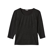 Buy Precis Petite Bonnie Sparkle Jersey Top, Black Online at johnlewis.com