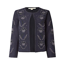 Buy White Stuff Soho Embroidered Jacket, Navy Online at johnlewis.com