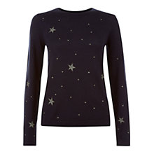 Buy Hobbs Celestial Jumper, Navy Online at johnlewis.com