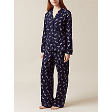 Buy Hobbs Poppy Dog Flannel Pyjama Set, Navy Online at johnlewis.com