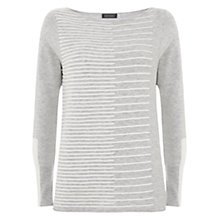 Buy Mint Velvet Cropped Knit, Grey Stripe Online at johnlewis.com