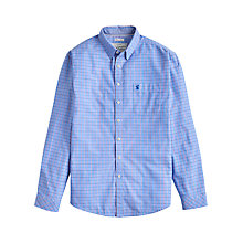 Buy Joules W Welford Small Check Shirt, Storm Blue Check Online at johnlewis.com