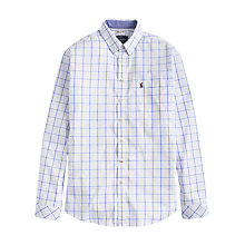 Buy Joules Welford Windowpane Check Classic Fit Shirt, Blue Overcheck Online at johnlewis.com