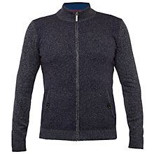 Buy Ted Baker Conrad Funnel Neck Zip Up Cardigan, Navy Online at johnlewis.com