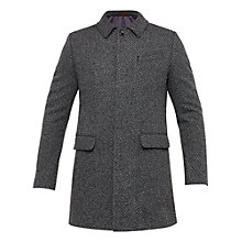 Buy Ted Baker Tobias Water-Repellent Herringbone Overcoat, Grey Online at johnlewis.com