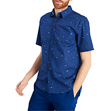 Buy Joules Lloyd Bird Print Short Sleeve Shirt, Bluebird Online at johnlewis.com