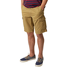 Buy Joules Croft Cotton Cargo Shorts, Camel Online at johnlewis.com