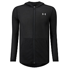 Buy Under Armour Threadborne Fitted Full Zip Training Hoodie, Black Online at johnlewis.com